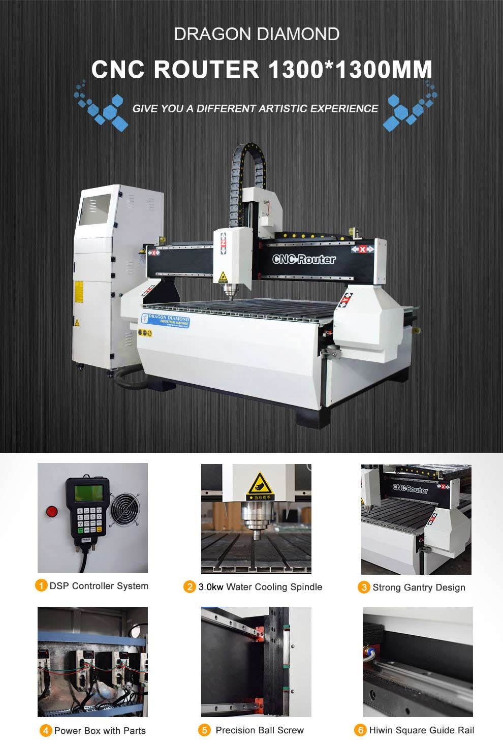1313 CNC Router For Metal